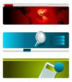 Web site header vector template set 2