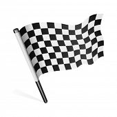 stock photo of sidecar  - Vector checkered flag - JPG