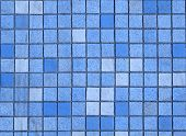 Small Blue Tiles Abstract Background. poster