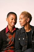 image of teenage boys  - mother and son sharing a moment together - JPG