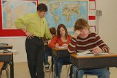 Teacher Helps Teen With Schoolwork