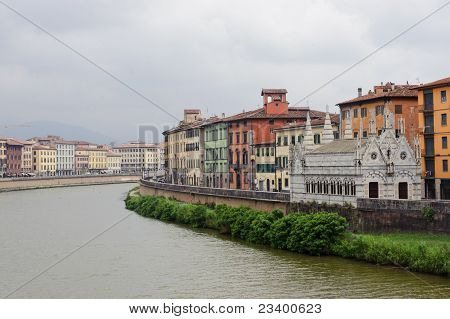 Pisa And The Arno River