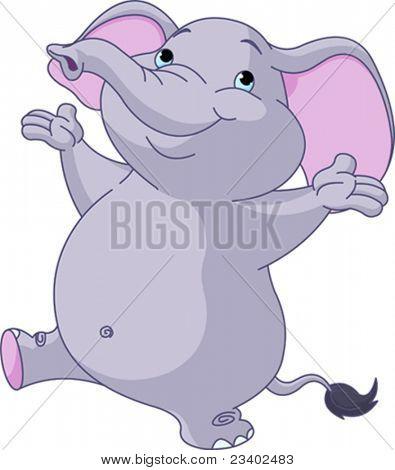 Happy Very Cute dancing elephant