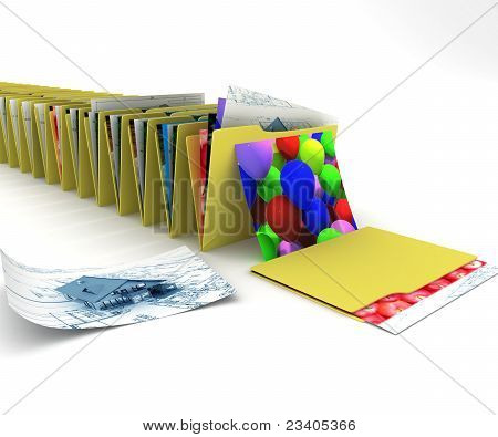 Folder with graphic files