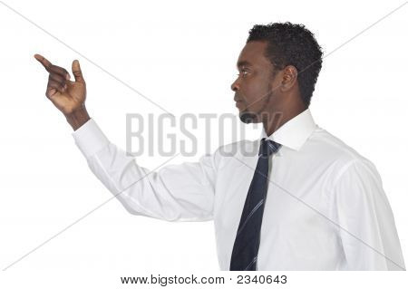 Man Pointing At Nothing