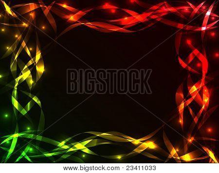 Shiny Plasma Ribbon Frame