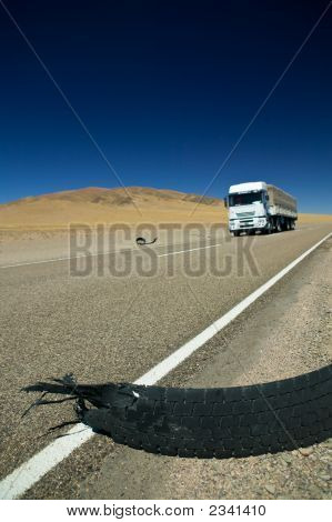 White Truck On A Highway