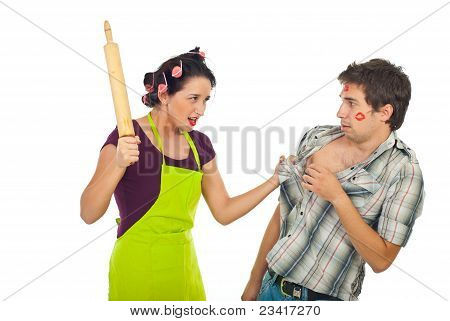 Furious Housewife With Unfaithful Husband