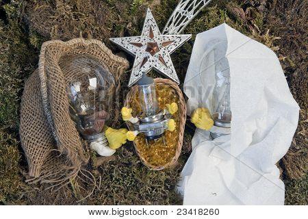 Bulb Nativity Scene