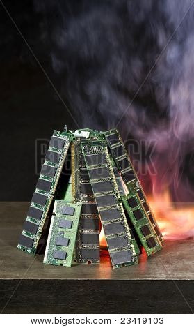 Burning Random Access Memory