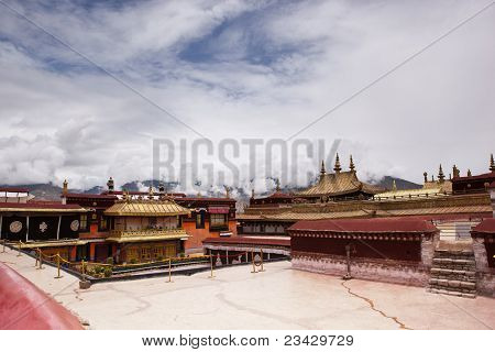 Golden Roof In Jokhang Temple