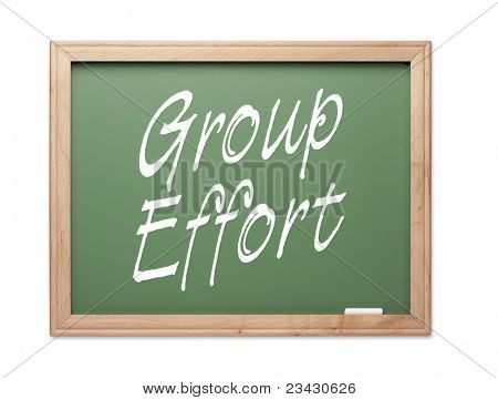 Group Effort Green Chalk Board Series on a White Background.