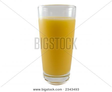Orange Juice On White Background