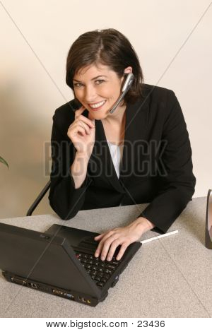 Office Worker Using Headset