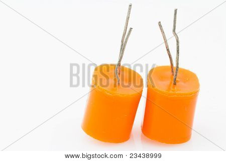 Two Electrolytic Capacitor