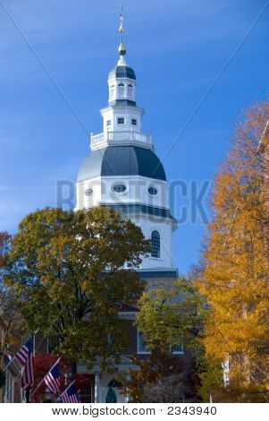 Maryland State House Is The Capitol In Annapolis