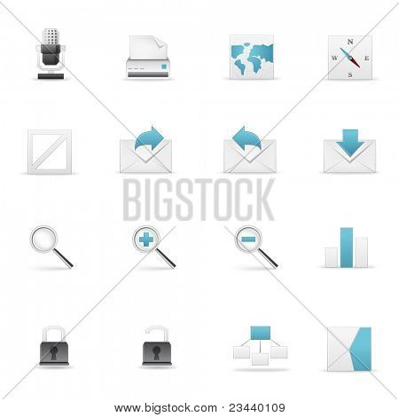 Icon set for Web and Soft. Vector EPS8.