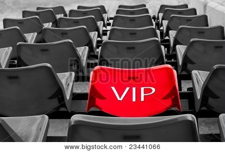 Red Vip Seat In Football Stadium