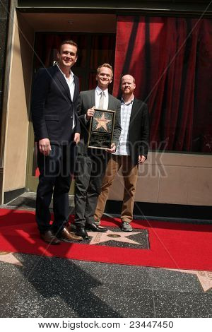 LOS ANGELES - SEPT 15:  Jason Segal, Neil Patrick Harris, Joss Wheden at the Hollywood Walk of Fame Star ceremony for Neil Patrick Harris at Frolic Room on September 15, 2011 in Los Angeles, CA