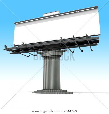 Blank Advertisement Billboard