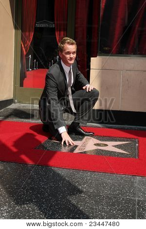 LOS ANGELES - SEPT 15: Neil Patrick Harris at the ceremony bestowing a star on the Hollywood Walk of Fame to Neil Patrick Harris at Frolic Room on September 15, 2011 in Los Angeles, CA