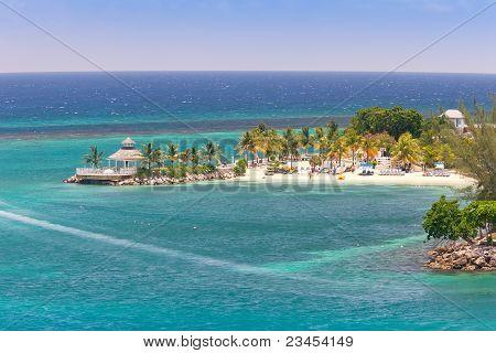 Caribbean Beach In Ocho Rios, Jamaica