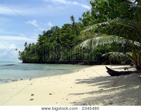 Samoa, Beach On Namua Island