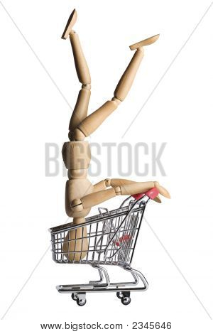 Mannequin In A Shopping Cart