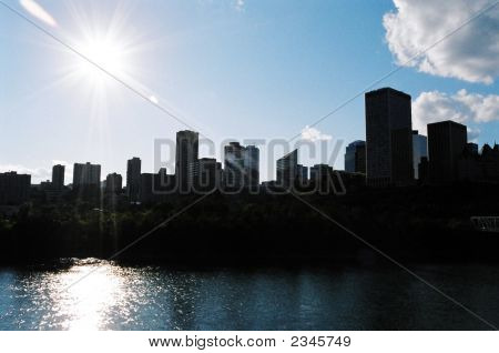 Silhouette  Edmonton Alberta Canada