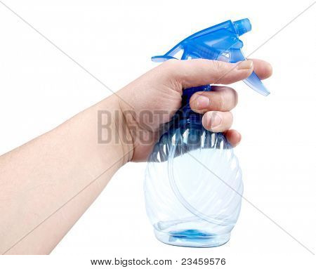 Color photo of bottle with sprayer