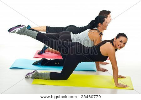Group Of People Flexing Legs