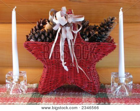 Christmas Star Basket