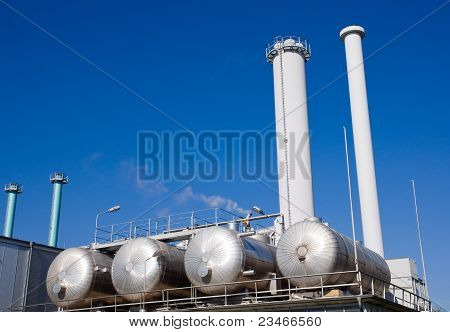 Tanks and smokestacks