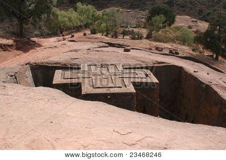 rock church in Ethiopia