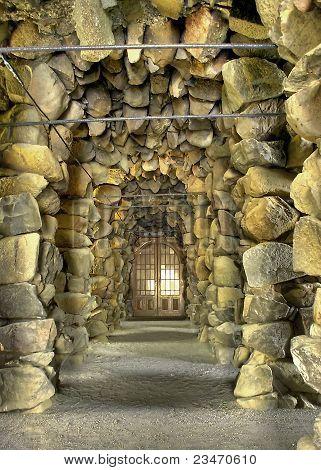 Secret mysterious door