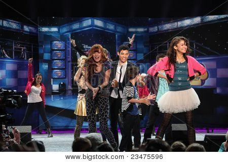 LOS ANGELES - AUG 21:  Shake It Up Cast at the D23 Expo 2011 at the Anaheim Convention Center on August 21, 2011 in Anaheim, CA