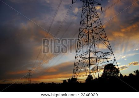 Powerlines At Sunset2