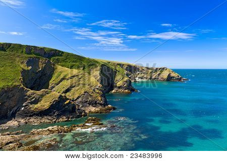 Cliff at Cornish coast near Port Issac, Cornwall, England