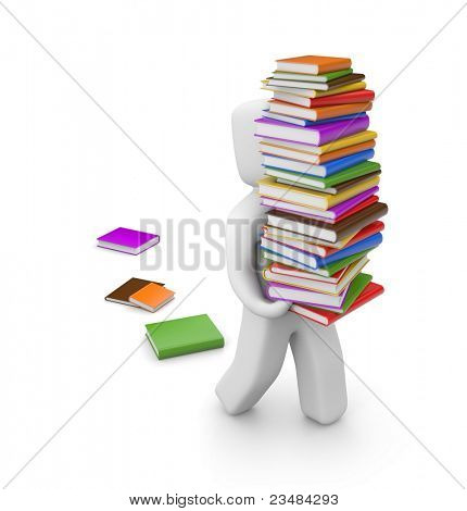 Person with books