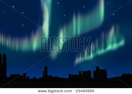 Aurora in the city