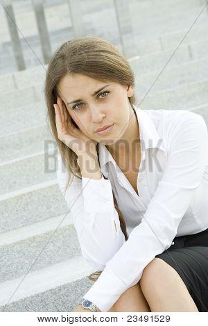 Business Woman Suffering From Headache