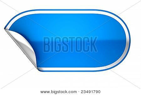 Blue Rounded Hamous Sticker Or Label On White