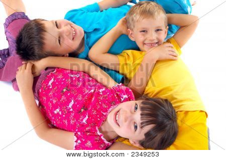 Kids Lying On The Floor