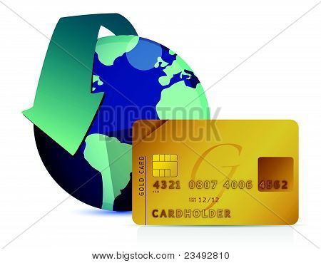 world credit concept illustration design over white
