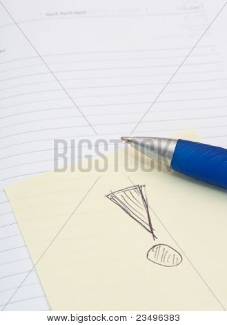 Notebook, Ballpoint And Memo Stick