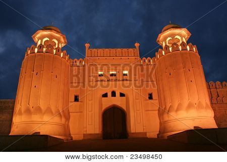 Massive Alamgiri Gate of Lahore Fort, Pakistan