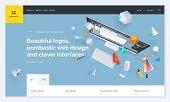 Website Template Design. Modern Vector Illustration Concept Of Web Page Design For Website And Mobil poster