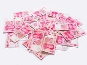 picture of zedong  - close up of a heap of chinese yuan - JPG