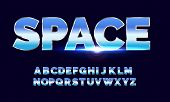 Retro Alphabet Font. Sci-fi Future Style. Vector Typeface For Flyers, Headlines, Posters Etc poster