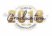 Graduation Label. Vector Text For Graduation Design, Congratulation Event, Party, High School Or Col poster